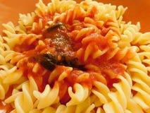 Pasta in the pot Stock Photo
