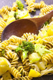 Pasta cooking in the pan. Stock Images
