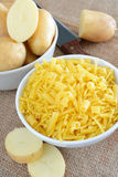 Pasta and potatoes Stock Photography