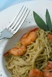 Pasta and Prawns series Stock Photo
