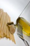 Pasta preparations stock image
