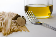 Pasta preparations Royalty Free Stock Photo