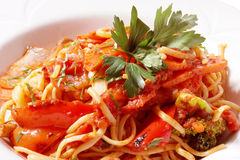 Pasta primavera royalty free stock photography