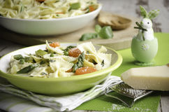 Pasta primavera for Easter stock image