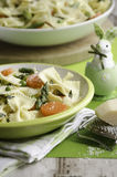 Pasta primavera for Easter royalty free stock image