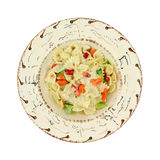 Pasta Primavera in southwestern style bowl Royalty Free Stock Photos