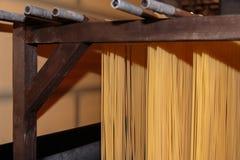 Pasta Production Plant, Industrial Italian Spaghetti Stock Images