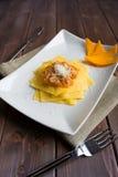Pasta with pumpkin Stock Image