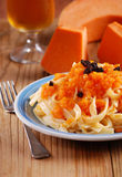 Pasta with pumpkin Royalty Free Stock Photos