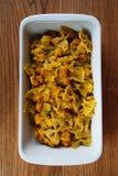 Pasta with pumpkin Stock Photos