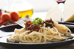 Pasta putanesca Royalty Free Stock Images