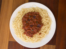 Pasta Putenesca Stock Images