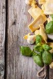 Pasta ravioli with basil Royalty Free Stock Photos