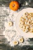 Pasta ravioli with pumpkin Royalty Free Stock Photography