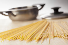 Pasta ready to cook Stock Photography