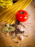 Pasta and red tomato Royalty Free Stock Photos