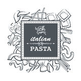 Pasta restaurant illustration Stock Image