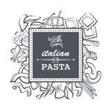 Pasta restaurant illustration Stock Image