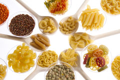 Pasta rice and pulses Royalty Free Stock Photos