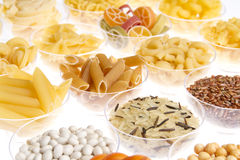 Pasta rice and pulses Stock Images