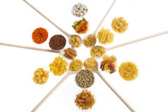 Pasta rice and pulses Stock Photography