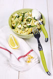 Pasta with ricotta and beans Stock Image