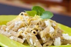 Pasta Ricotta And Lemon Zest Stock Photos