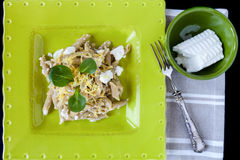 Pasta With Ricotta Stock Photos