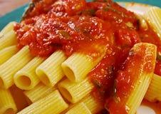 Pasta Rigaton Stock Photography