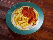 Pasta Rigaton Stock Photos