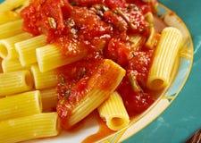 Pasta Rigaton Royalty Free Stock Photos