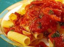 Pasta Rigaton Stock Photo
