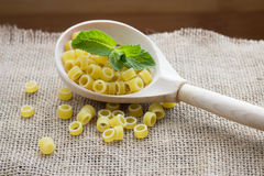 Pasta rings on background Royalty Free Stock Image
