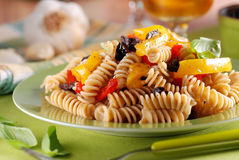 Pasta with roasted peppers Royalty Free Stock Image