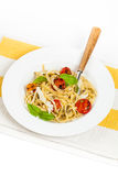 Pasta With Roasted Tomatoes Royalty Free Stock Photo