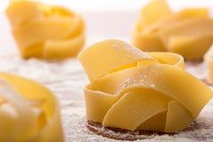 Pasta rolls with flour Stock Photo