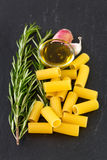 Pasta with rosemary Stock Image