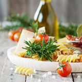 Pasta and rosemary Royalty Free Stock Photography