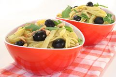 Pasta with rucola Stock Photo