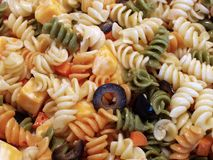 Pasta Salad. A plate of pasta salad Stock Image
