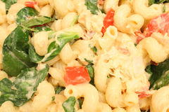 Pasta salad background Stock Photos
