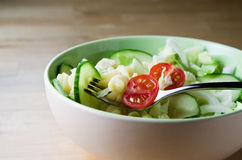 Pasta Salad in Bowl Royalty Free Stock Images