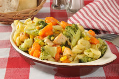 Pasta salad with chicken Stock Images