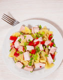 Pasta salad with chicken and vegetables Royalty Free Stock Images