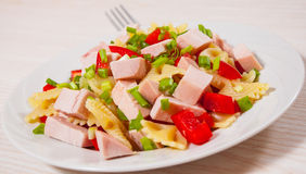 Pasta salad with chicken and vegetables Stock Images