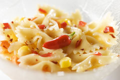 Pasta Salad with Chili Pepper Stock Images