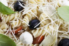 Pasta Salad Close Stock Image