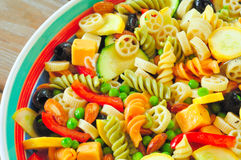Pasta salad close Royalty Free Stock Photo
