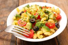Pasta salad. Close up on pasta salad royalty free stock photo