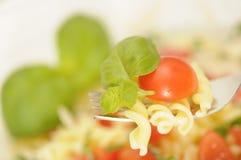 Pasta salad close-up royalty free stock image